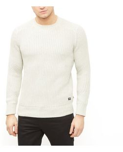 Produkt Grey Textured Knit Crew Neck Jumper  | New Look