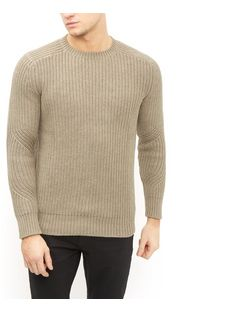 Produkt Khaki Textured Knit Crew Neck Jumper  | New Look
