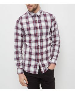 Produkt Grey Herringbone Check Shirt | New Look