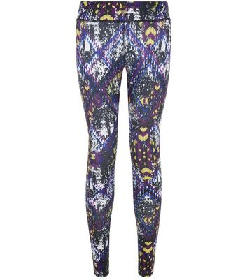 purple-abstract-print-sports-leggings