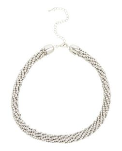 Crystal Round Necklace  | New Look