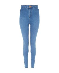 Tall 36in Blue High Waist Super Skinny Jeans | New Look