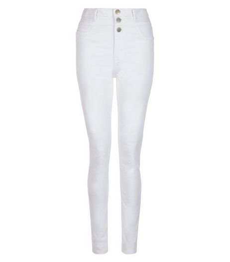 Tall 36in White Supersoft High Waist Super Skinny Jeans | New Look