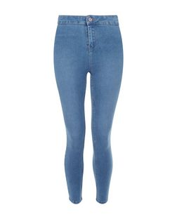 Petite 28in Blue High Waist Super Skinny Jeans | New Look