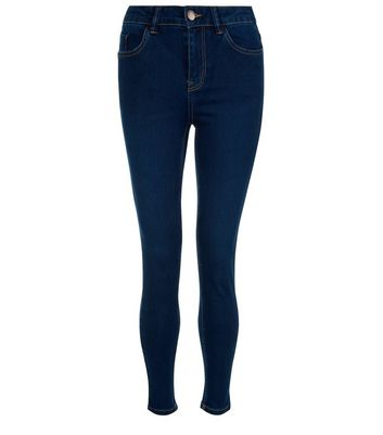 Petite 28in Navy Supersoft Super Skinny Jeans