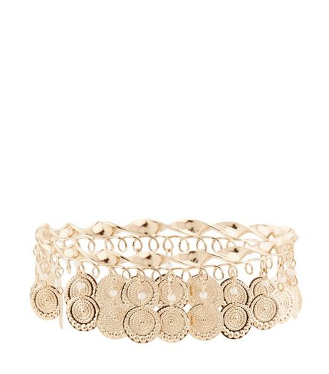 Gold Coin Arm Cuff | New Look