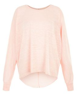 Cameo Rose Shell Pink Oversized Batwing Top  | New Look