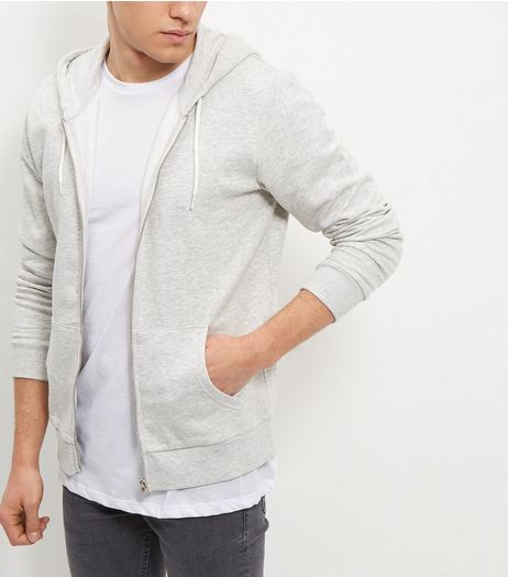Cream Zip Front Hoodie | New Look