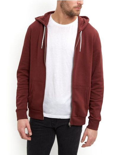 Brown Zip Up Hoodie  | New Look