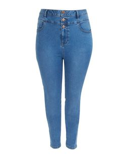Plus Size Blue High Waisted Skinny Jeans | New Look