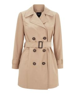 Petite Camel Belted Trench Coat  | New Look