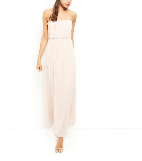 AX Paris Stone Chiffon Pleated Maxi Dress  | New Look