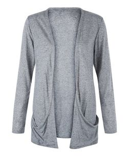 Teens Grey Neppy Boyfriend Cardigan  | New Look
