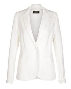 White Jersey Blazer  | New Look