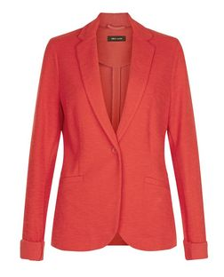 Red Jersey Blazer  | New Look