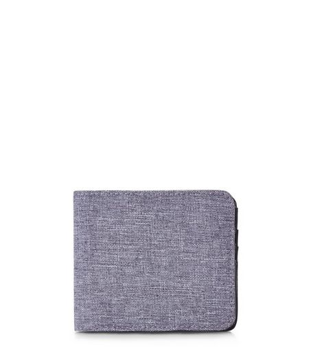 Grey Textured Popper Wallet  | New Look