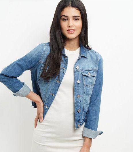 Veste en jean bleu | New Look