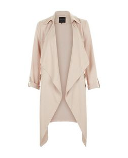 Shell Pink Waterfall Duster Coat  | New Look