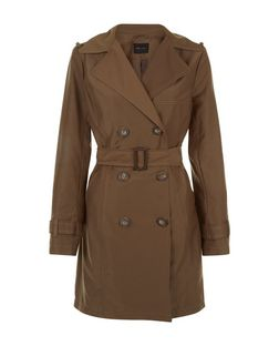 Khaki Belted Trench Coat  | New Look