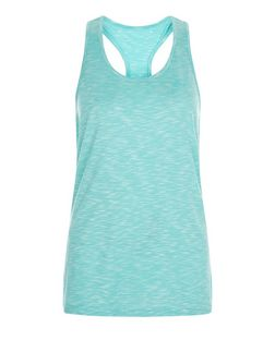 Only Blue Cut Out Back Sports Vest | New Look