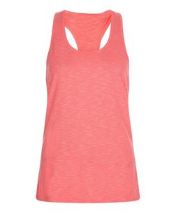 Only Pink Cut Out Back Sports Vest | New Look
