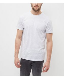 Pale Grey Crew Neck T-Shirt | New Look