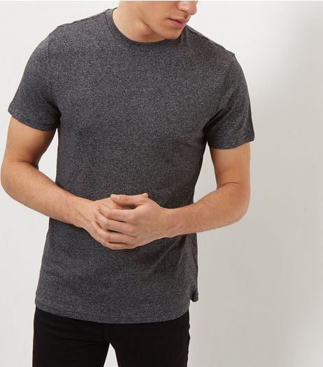 Dark Grey Crew Neck T-Shirt | New Look