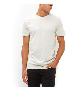 Stone Crew Neck T-Shirt | New Look