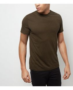 Khaki Crew Neck T-Shirt | New Look