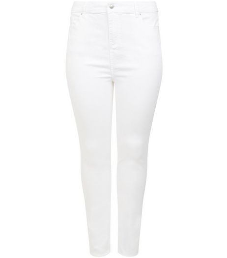 Curves White Skinny Jeans  | New Look