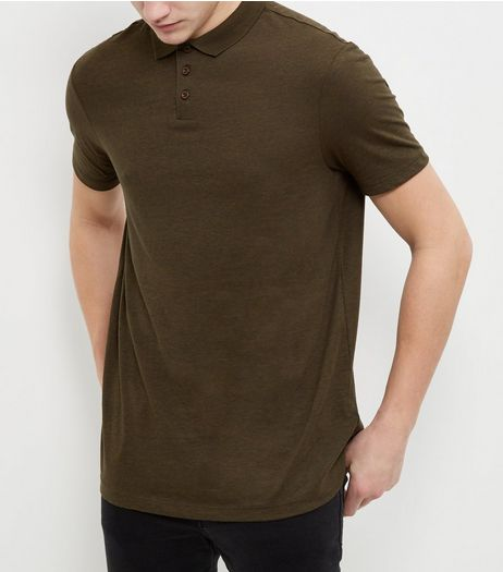 Khaki Basic Polo Shirt  | New Look