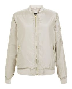 Stone Bomber Jacket  | New Look