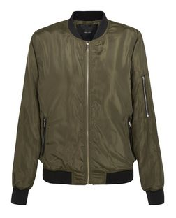 Khaki Bomber Jacket  | New Look