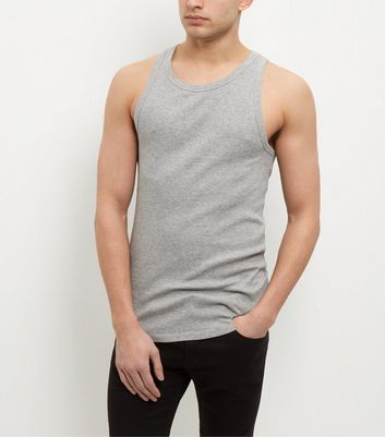Grey Ribbed Vest