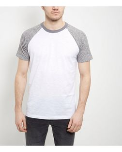 Grey Raglan T-Shirt  | New Look