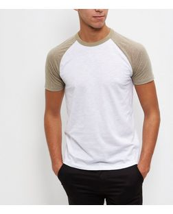 Khaki Raglan T-Shirt  | New Look