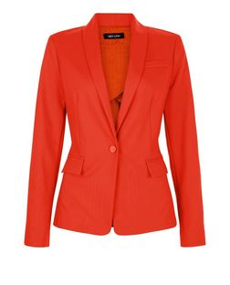 Red Single Button Front Blazer  | New Look