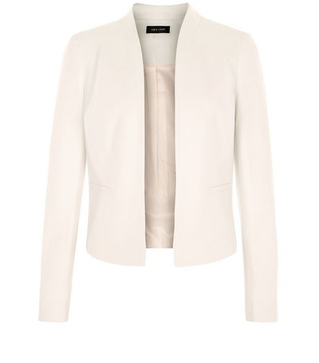Shell Pink Cropped Blazer  | New Look