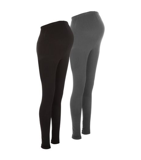 Maternity 2 Pack Black and Grey Leggings | New Look