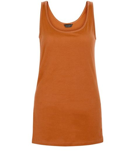 Tan Scoop Neck Vest  | New Look