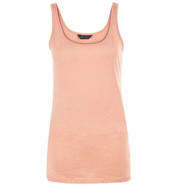 Coral Scoop Neck Vest