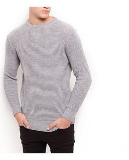 Silver Tuck Stitch Jumper  | New Look
