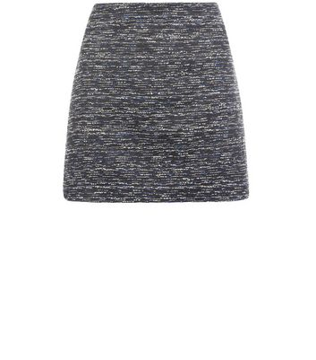 Gonna  donna Black Boucle Knit Suit Skirt