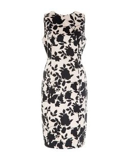 Shell Pink Floral Print High Neck Dress | New Look