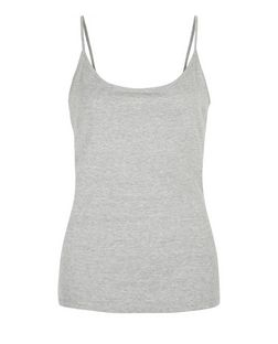 Grey Scoop Neck Cami | New Look