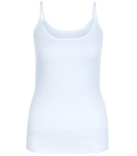 White Scoop Neck Cami | New Look