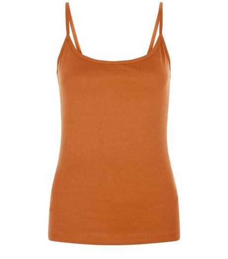 Tan Scoop Neck Cami | New Look