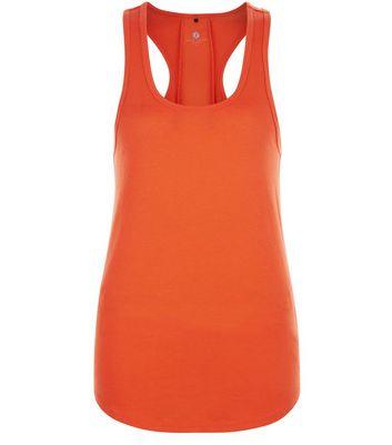 Orange Mesh Back Sports Vest