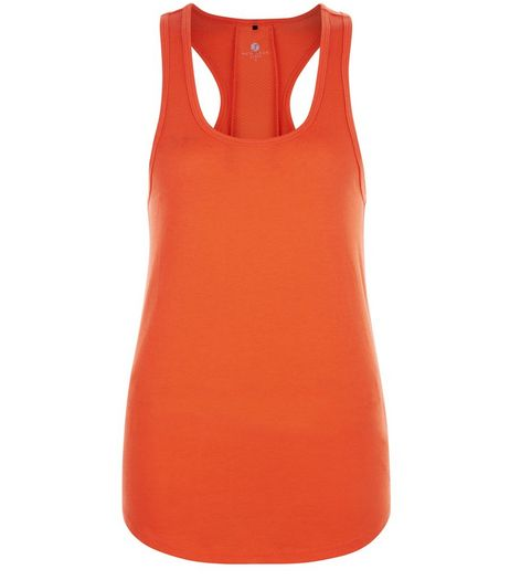 Orange Mesh Back Sports Vest | New Look