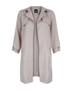 Teens Stone Zip Pocket Trench Coat | New Look